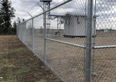 Fenced barbed wire
