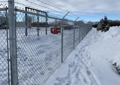 Chainlink with barbed wire