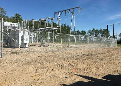 fence around electrical station