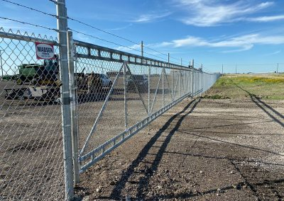 large chain link gate
