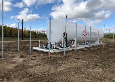 propane tank fencing setup