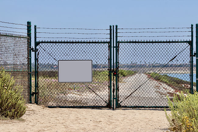 restricted area gate