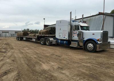 semi transporting supplies