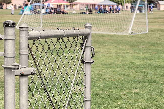soccer field gate