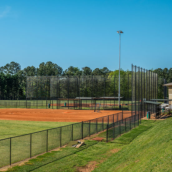 sports field chain link fence